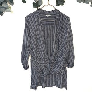 Silence and noise surplice long sleeve